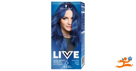 Schwarzkopf Live hajszínező 095 Vibráló kék bfacfe7951
