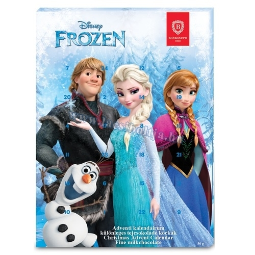 milka adventi naptár 2019 Bonbonetti Disney adventi kalendárium 50 g Frozen (Jégvarázs) 2014 milka adventi naptár 2019