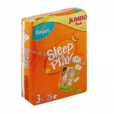 Pampers Sleep & Play pelenka (3) 78 db-os Midi 4-9 kg