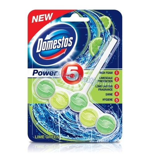 Domestos power 5 wc fertőtlenítő lime 55 g