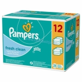 Pampers Fresh Clean popsitörlőkendő 12 x 64 db-os