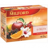 Milford tea 40 x 2,5 g 6-Fruits tea