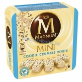 Algida Magnum Mini Cookie Crumble white fehércsokis kekszes 6 x 60 ml
