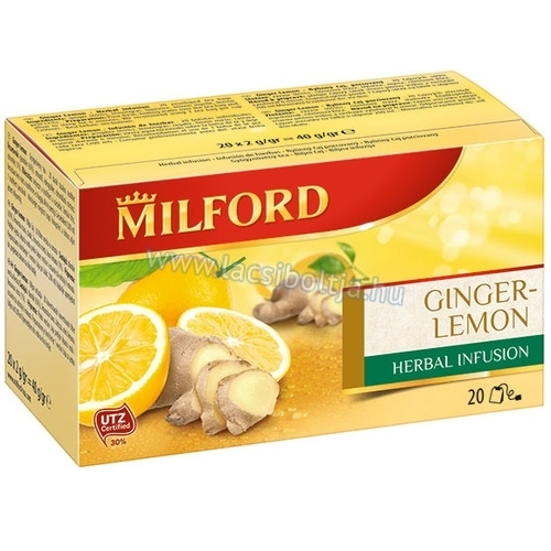 Milford tea ginger lemon herbal infusion  (gyömbér-citrom) 20 x 2 g
