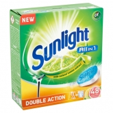 Sunlight All in 1 Double Action Citrus Fresh gépi mosogató tabletta 48 db