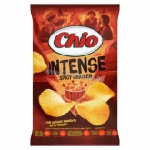 Chio chips Intense spicy chicken chili és csirkehús ízű burgonyachips 70 g