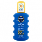 NIVEA SUN Protect & Moisture napozó spray FF50+ 200 ml