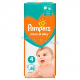 Pampers Sleep & Play pelenka Maxi 4-as Méret, 50 db 9-14 kg