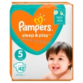 Pampers Sleep & Play pelenka (5) 42 db-os Junior 11-16 kg