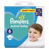 Pampers active baby pelenka Giant pack 6 Xl 13-18 kg (56 db)