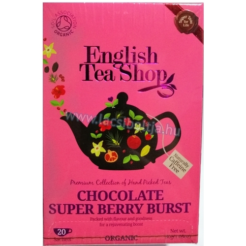 English Tea Shop Chocolate Super Berry Burst BIO tea - 20 filter 30 g