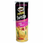 Pringles Tortilla dobozos chips 160 g Fiery Chilli