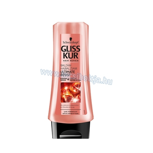 Gliss Kur hajregeneráló balzsam ultimate resist 200 ml