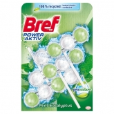 Bref Power Aktiv ProNature Mint-Eucalyptus WC frissítő 3 x 50 g