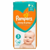 Pampers Sleep & Play pelenka (3) 58 db-os Midi 6-10 kg