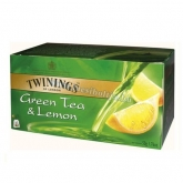 Twinings tea 25 filter green tea & lemon zöld tea és citrom 50 g