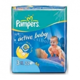 Pampers active baby pelenka Midi 4-9 kg (22 db)