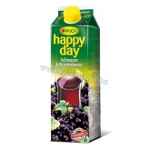 Rauch Happy day feketeribizli 25 % 1 l